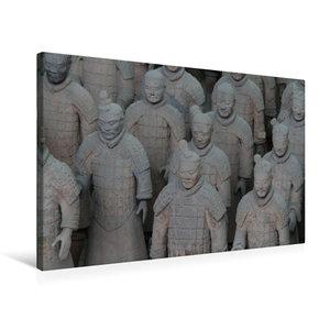 Premium Textil-Leinwand 75 cm x 50 cm quer Die Terrakotta Armee