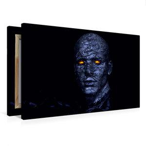 Premium Textil-Leinwand 75 cm x 50 cm quer Cyborg