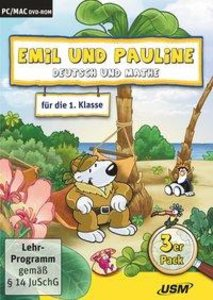 Emil und Pauline 2. 3er Box - Deutsch und Mathe für die 1. Klass
