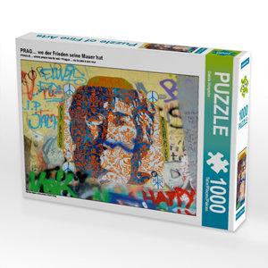 PRAG? wo der Frieden seine Mauer hat 1000 Teile Puzzle quer