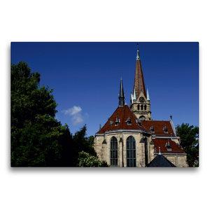 Premium Textil-Leinwand 75 cm x 50 cm quer Lutherkirche Bad Harz