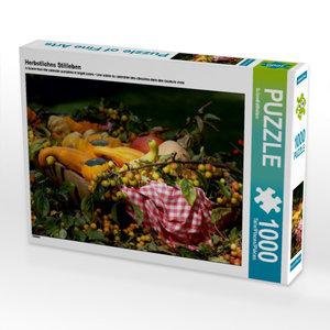 Herbstliches Stillleben 1000 Teile Puzzle quer