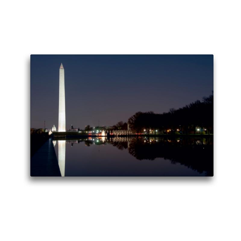 Premium Textil-Leinwand 45 cm x 30 cm quer Washingtn Monument - zum Schließen ins Bild klicken