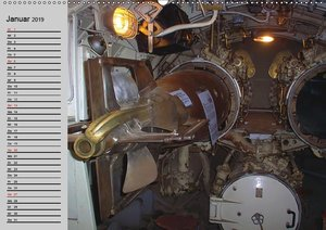 U-Boote. Militärische Ungetüme (Wandkalender 2019 DIN A2 quer)