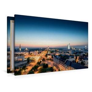 Premium Textil-Leinwand 120 cm x 80 cm quer Leipzig Du bist so g
