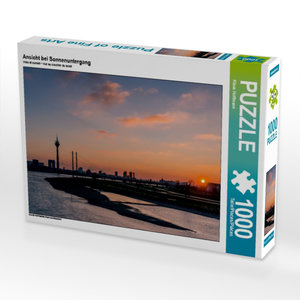 Ansicht bei Sonnenuntergang 1000 Teile Puzzle quer