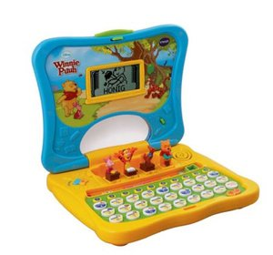 VTech 80-069104 - Lerncomputer: Winnie Puuhs ABC-Laptop