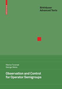 Observation and Control for Operator Semigroups