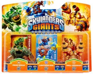 Skylanders Giants: Triple Pack E - Prism Break, Lightning Rod, D