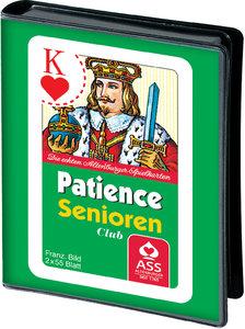 Senioren Patience. Französisches Bild