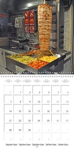 Istanbul Street Food (Wall Calendar 2015 300 × 300 mm Square)