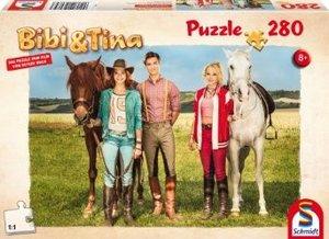 Schmidt 56084 - Bibi und Tina, Sommerferien, Puzzle zum Film, 28
