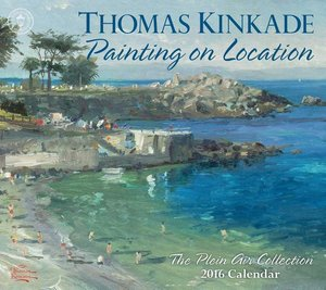 Thomas Kinkade Painting on Location