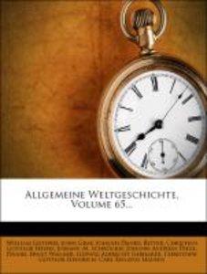 Allgemeine Weltgeschichte, fuenf und sechszigster Band