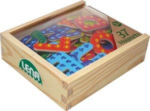 Lena 65823 - Holz Magnet Buchstaben, 37 Stück