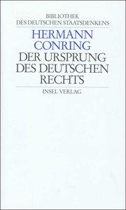 Der Ursprung des deutschen Rechts