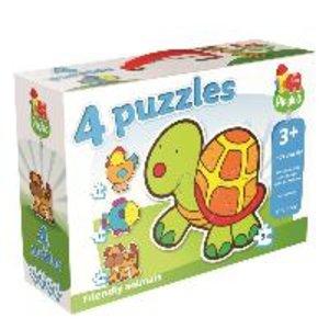 "Playlab 4in1 Konturenpuzzle ""Haustiere"" 2/3/4/5 Teile"