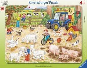 Auf dem großen Bauernhof. Rahmenpuzzle 40 Teile