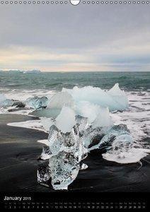 Iceland 63° 66° N (Wall Calendar 2015 DIN A3 Portrait)