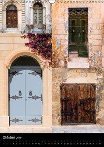 Maltesische Türen - Stimmungsvoll, schön und farbenfroh (Wandkal