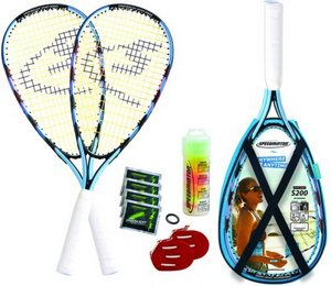 Speedminton Set S200 im X-Back Pack inkl. Easy Court, Modell 201