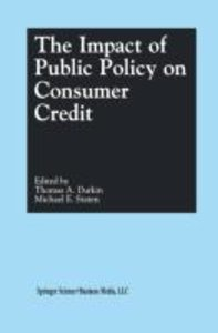 The Impact of Public Policy on Consumer Credit