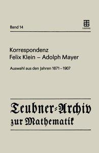 Korrespondenz Felix Klein - Adolph Mayer