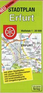 Stadtplan Erfurt 1 : 20 000