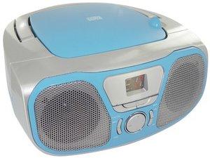 Tragbares CD/Radio CD46 - silber/blau