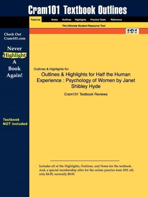 Outlines & Highlights for Half the Human Experience - zum Schließen ins Bild klicken