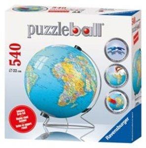 Erde in deutscher Sprache + V-Stand. 3D Puzzle-Ball 540 Teile
