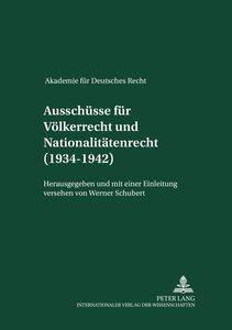 Ausschüsse für Völkerrecht und für Nationalitätenrecht (1934-194