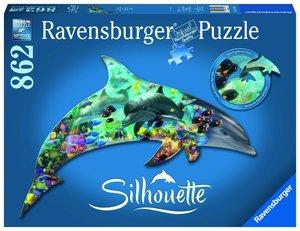 Ravensburger 16154, Delfinwelt 862 Teile, Silhouette Puzzle