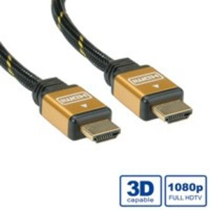 ROLINE GOLD HDMI High Speed Kabel, ST-ST 2,0m