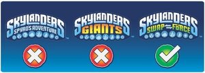 Skylanders Swap Force - STAR STRIKE (Single Character) Light Cor