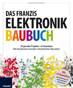 Elektronik Baubuch mit Elektronikbauteilen und Steckboard