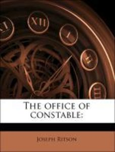 The office of constable: