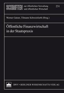 Öffentliche Finanzwirtschaft in der Staatspraxis