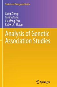 Analysis of Genetic Association Studies