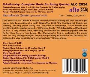 Die Werke für Streichquartett