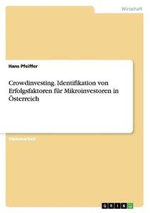 Crowdinvesting. Identifikation von Erfolgsfaktoren für Mikroinve