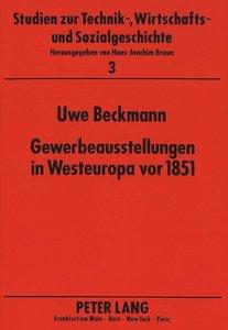 Gewerbeausstellungen in Westeuropa vor 1851