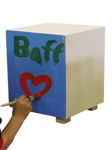 baff - Cajon Bausatz 38 cm, Kindertrommelhocker, Bausatz Cajon-B