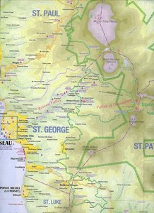 Dominica 1 : 50 000 / St.Lucia 1 : 40 000. Travel Reference Map