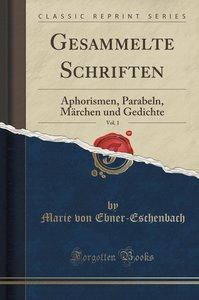 Gesammelte Schriften, Vol. 1