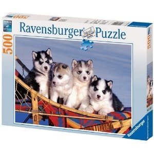 Ravensburger 14120 - Husky Welpen, 500 Teile Puzzle