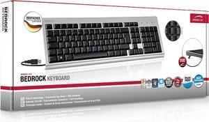 Speedlink BEDROCK Keyboard, PC-Tastatur, USB, silber