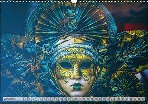 Festival der Masken (Wandkalender 2017 DIN A3 quer)