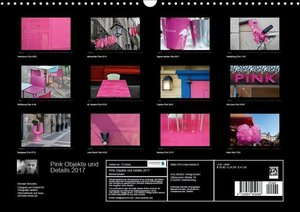 Pink Objekte und Details 2017 (Wandkalender 2017 DIN A3 quer)