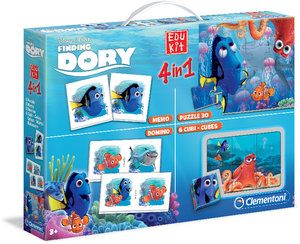 Clementoni Disney Pixar Findet Dorie Edu Kit 4 in 1 Memo, Domino